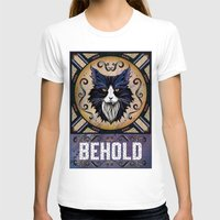 Behold Womens Fitted Tee White SMALL