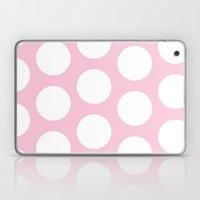 Pink Polka Dot Laptop & iPad Skin