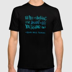 Henry David Thoreau Mens Fitted Tee Black SMALL