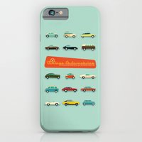 iPhone & iPod Case featuring Vintage Automobiles by Hand Drawn Creative