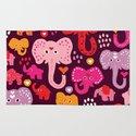 Elephant india parade Rug