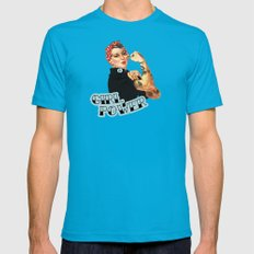 Girl Power! Mens Fitted Tee Teal SMALL