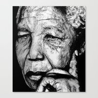 Canvas Print featuring Mandela by DeMoose_Art