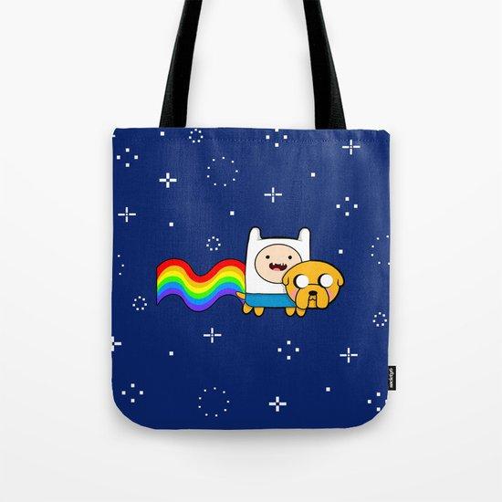 Nyan Time: Adventure Time plus Nyan Cat Tote Bag