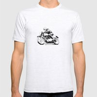 Vintage Motorcycle Mens Fitted Tee Ash Grey SMALL