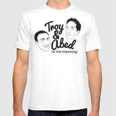 Troy & Abed In The Morning! - Community Mens Fitted Tee White SMALL