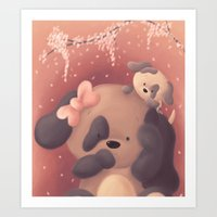Mothers Day Pups Art Print