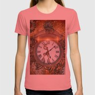 Steampunk Womens Fitted Tee Pomegranate SMALL