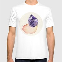 Amethyst Splash Mens Fitted Tee White SMALL