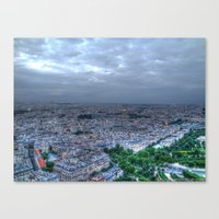 Canvas Print featuring Nighttime in Paris by Christine Workman