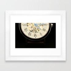 vintage time Framed Art Print