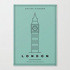 Minimal London City Poster Canvas Print