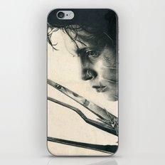 Edward Scissorhands ~ Johnny Depp Traditional Portrait Print iPhone & iPod Skin