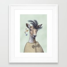 Oh deer, that´s posh! Framed Art Print