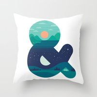 Day & Night Throw Pillow
