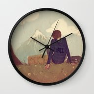 Here And There Wall Clock
