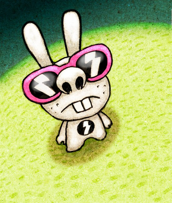 Rabbit 1/3 Art Print
