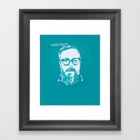 Hello World - This Is A … Framed Art Print