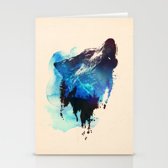 Alone as a wolf Stationery Card