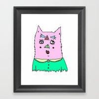 Gato Magico Framed Art Print