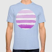 Purple Ombre  Mens Fitted Tee Tri-Blue SMALL