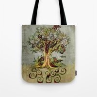 Fall Tree Bloom Tote Bag