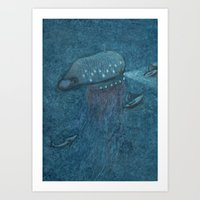 Jellyfish Submarine Art Print