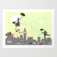 London - Mary Poppins Ta… Art Print