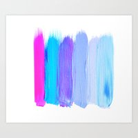 Ombre Brush Strokes Art Print