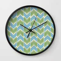 Vintage Basketweave: Che… Wall Clock
