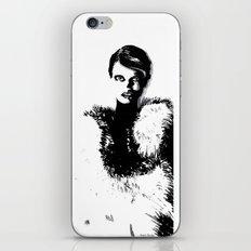 Glamor woman iPhone & iPod Skin