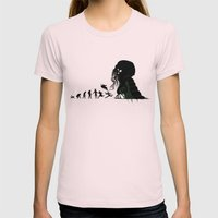 Lovecraftian Darwinism Womens Fitted Tee Light Pink SMALL