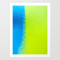 Blue Green Paint Art Print