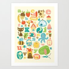 ABC Art Print