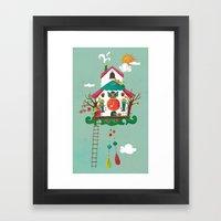 Cuckoo Mouse House Framed Art Print
