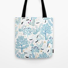 white birds garden Tote Bag