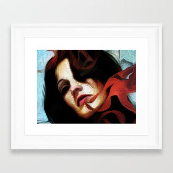 out of the light Framed Art Print
