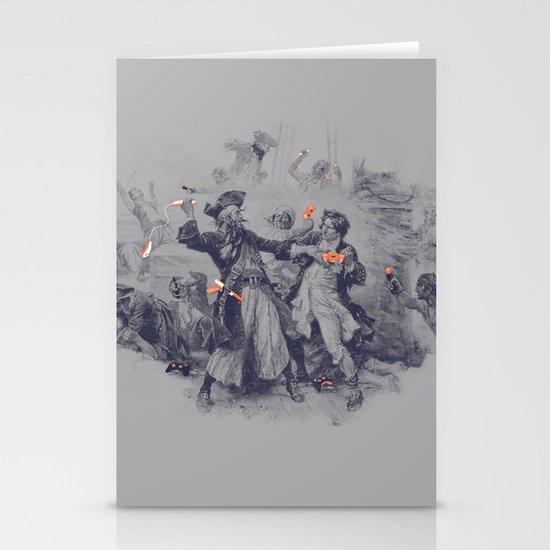 Epic Battle Stationery Card