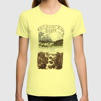 Feel Yourself At Home Womens Fitted Tee Lemon SMALL