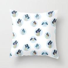 Hampster Butterflies Throw Pillow