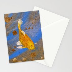 Pair of Golden Koi Stationery Cards