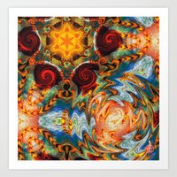 Liquid Spirals Art Print