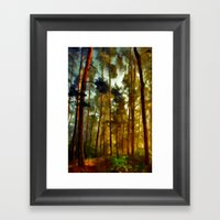Morning In The Woods - Painting Style Framed Art Print