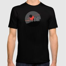 apocalypse city SMALL Mens Fitted Tee Black