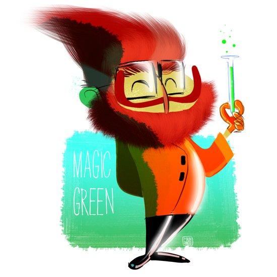 Magic Green Art Print