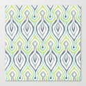 Sketchy IKAT Canvas Print