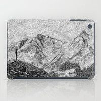 Child on the rock - Black ink iPad Case