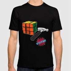 solved ! Black Mens Fitted Tee SMALL