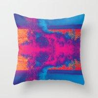 Crashing Waves Abstract Throw Pillow