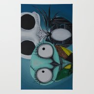 Rug featuring The Owl Jack And Sally by Annelies202